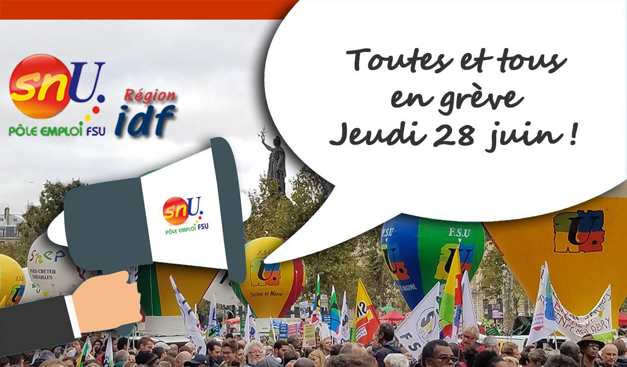 Grève et manifestation le 28 juin