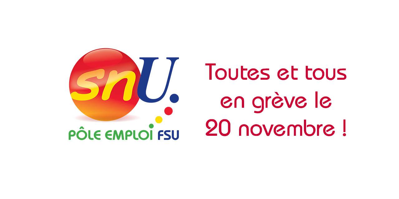 """Tous en grève le 20 novembre, 11h30 métro """"Assemblée nationale"""""""